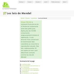 Les lois de Mendel