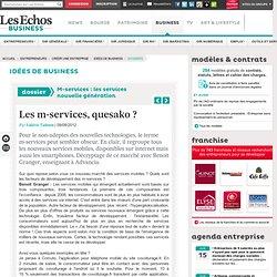 Les m-services, quesako ? , M-services : les services nouvelle génération