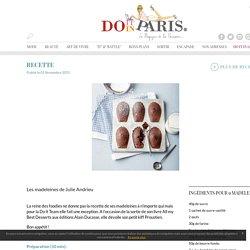 Les madeleines de Julie Andrieu