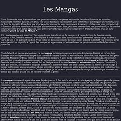 Les Mangas: qu'est-ce que c'est?