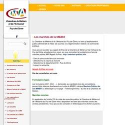 Les marchés de la CMA63