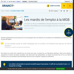 Les mardis de l'emploi à la MGB - Ville de Drancy