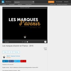 Les marques d'avenir en France - 2015