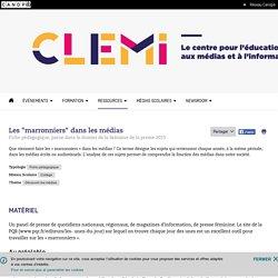 """Les """"marronniers"""" dans les médias- CLEMI"""