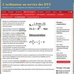 Les Mathématiques - www.ordys.be