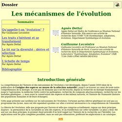 Les mécanismes de l'évolution