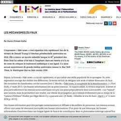 Les mécanismes du faux- CLEMI