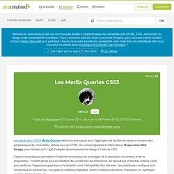 Les Media Queries CSS3