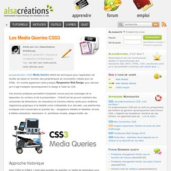 Les Media Queries CSS3 - Alsacréations