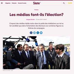 Les médias font-ils l'élection?