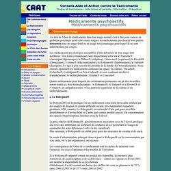 Les médicaments psychoactifs - 2