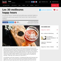 Les meilleurs bars en happy hour