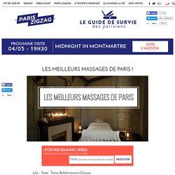 Les meilleurs massages de Paris !