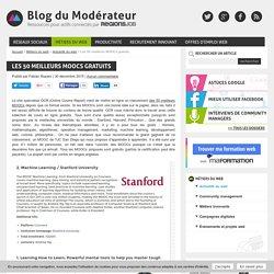 Les 50 meilleurs MOOCs gratuits