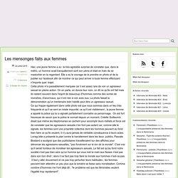 Article sur les mensonges sur le viol - Crêpe Georgette