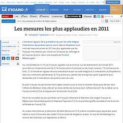Les mesures les plus applaudies en 2011
