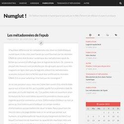 Les métadonnées de l'epub - Numglut !