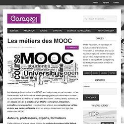 Les métiers des MOOC