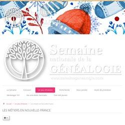 Les métiers en Nouvelle-France