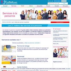Les 21 métiers des services à la personne
