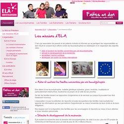 Les missions d'ELA - Association ELA