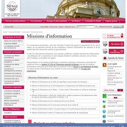 Les missions d'information- Sénat
