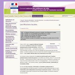 Les Missions locales - Le site du CNLE