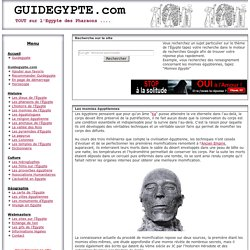 Les momies de l'Egypte antique.