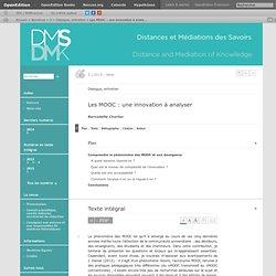 Les MOOC: une innovation à analyser