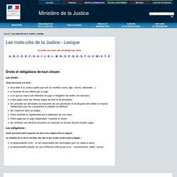 Les mots-clés de la Justice - Lexique