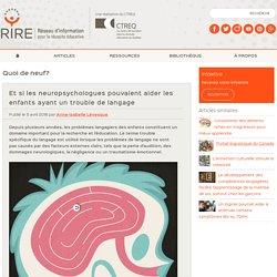 Les neuropsychologues et le langage