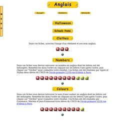 Les nombres et les couleurs en anglais