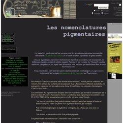 Les nomenclatures pigmentaires
