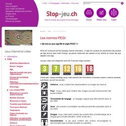 Les normes PEGI - Stop-jeu