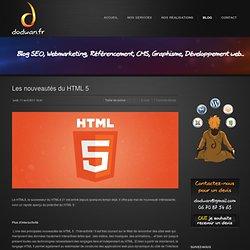 Les nouveautés du HTML 5