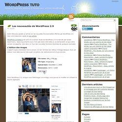 Les nouveautés de Wordpress 2.9