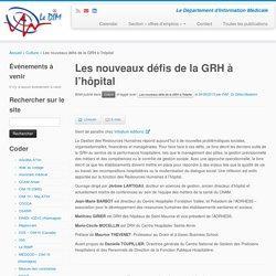 Les nouveaux défis de la GRH à l'hôpital - Le DIM