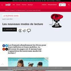 France Inter : Les nouveaux modes de lecture en 2016