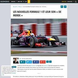 """Les nouvelles Formule 1 et leur son """"de merde"""""""