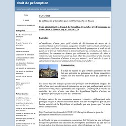 Pr emption d laissement expropriation pearltrees - Le droit de preemption ...