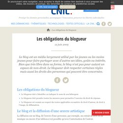 Les obligations du blogueur