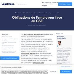 Les obligations de l'employeur vis-à-vis du CSE