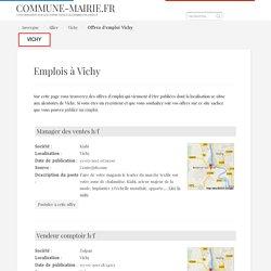 Les offres d'emploi à Vichy (03200)