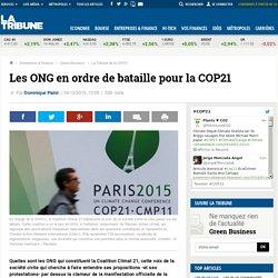Les ONG en ordre de bataille pour la COP21