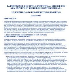 Les opérateurs booléens au service des non-experts