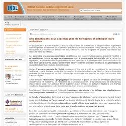 Les orientations de l'INDL