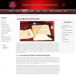 Les origines du Martinisme