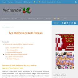 Les origines des mots français
