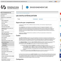 Les outils d'évaluation : tâches complexes Belgique