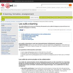 Les outils e-learning
